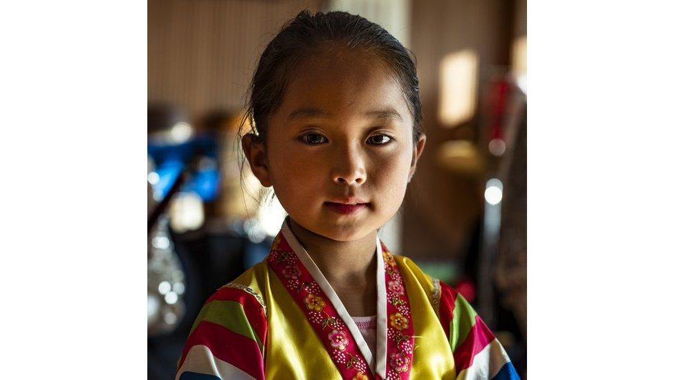 Portrait of girl in traditional dress