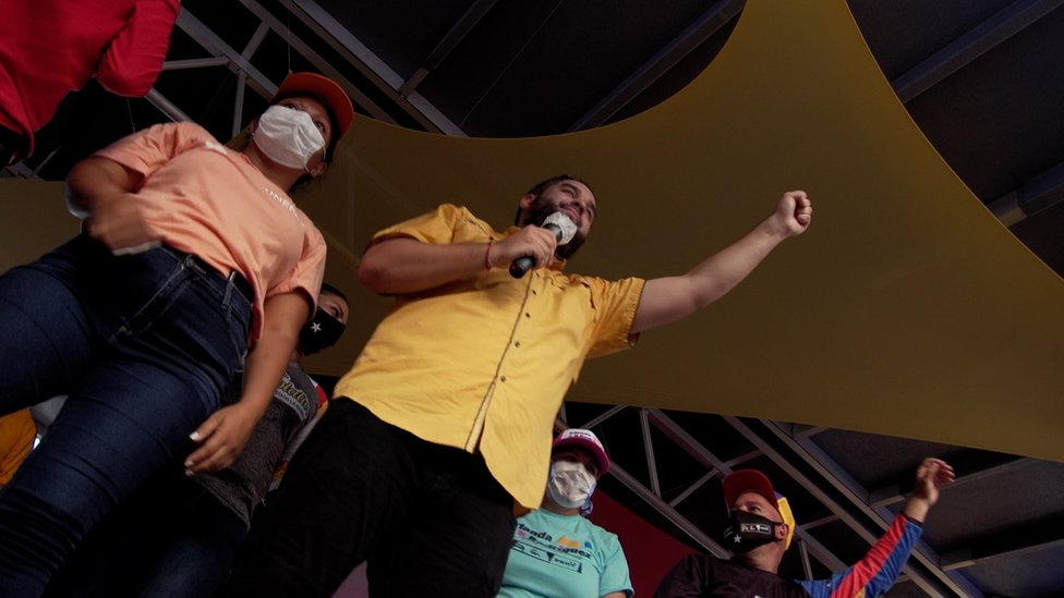 Venezuela election: 'There's no opposition here, just God' thumbnail