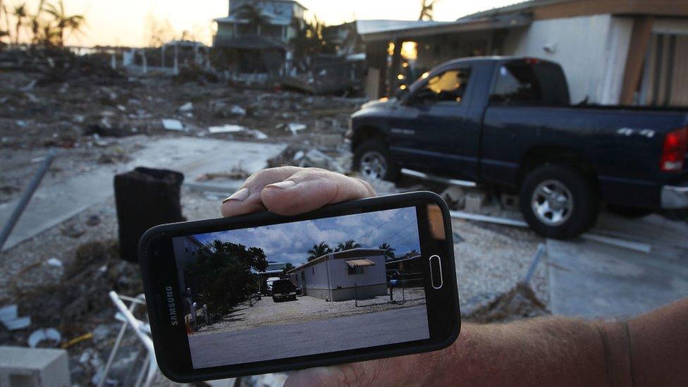 Destrozos del huracán Irma en los cayos de Florida, Estados Unidos.