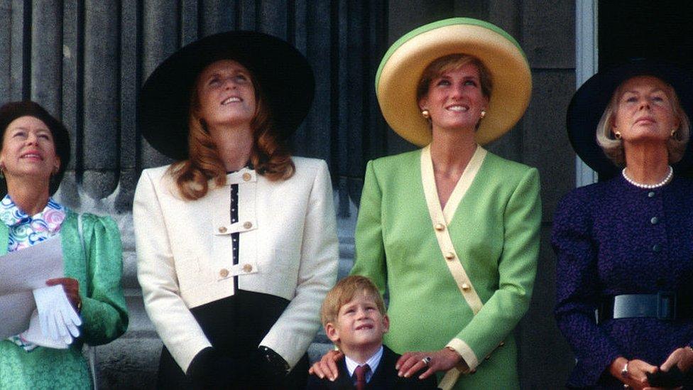 La princesa Diana y Sarah Ferguson