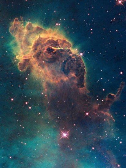 Gambar nebula yang diambil dengan teleskop Hubble.