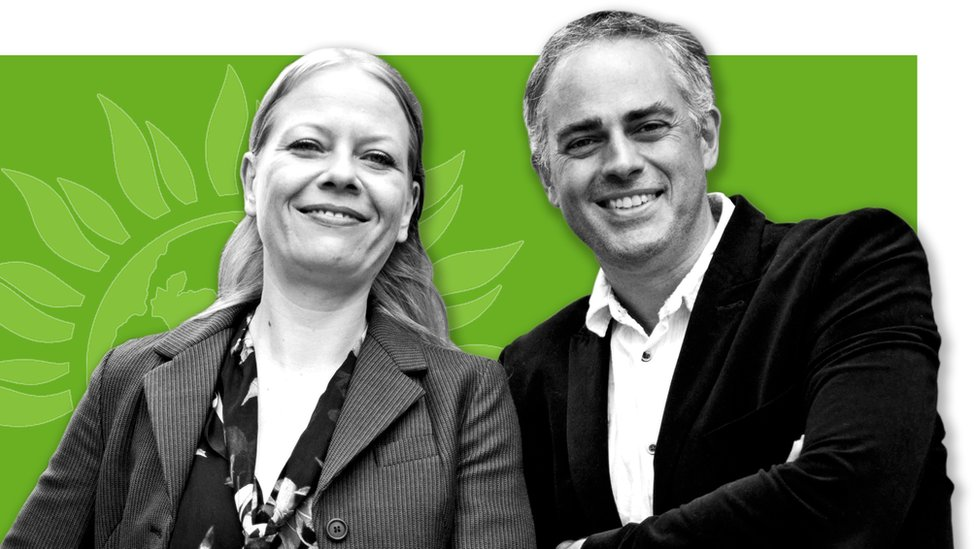 Sian Berry and Jonathan Bartley, co-leaders of the Green Party