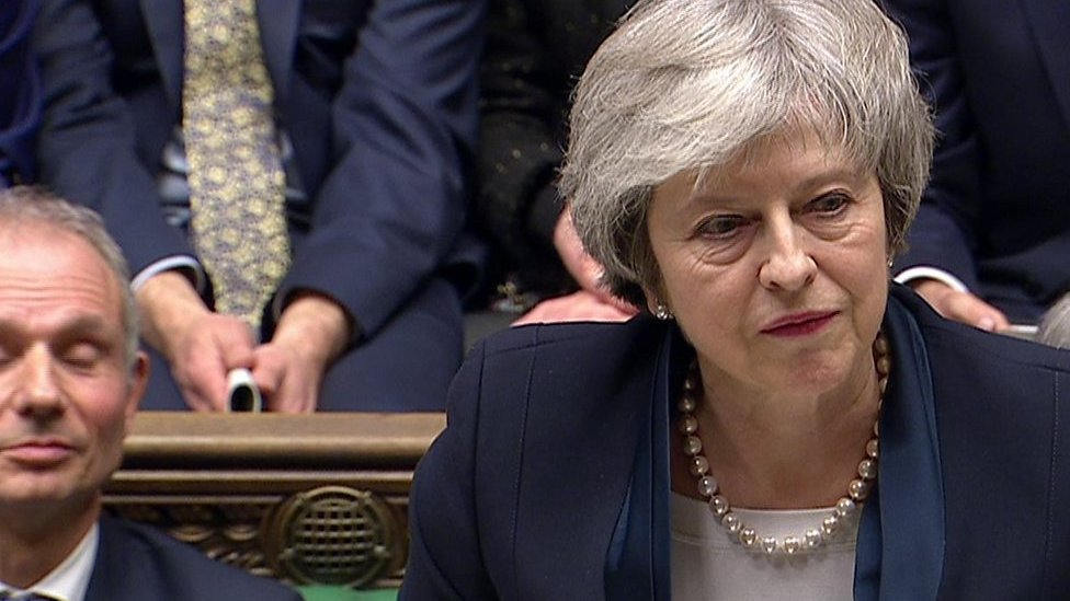 May responds to Brexit defeat