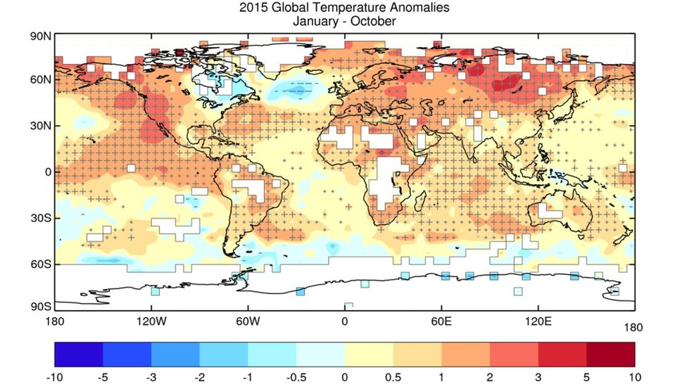 Global temps 2015