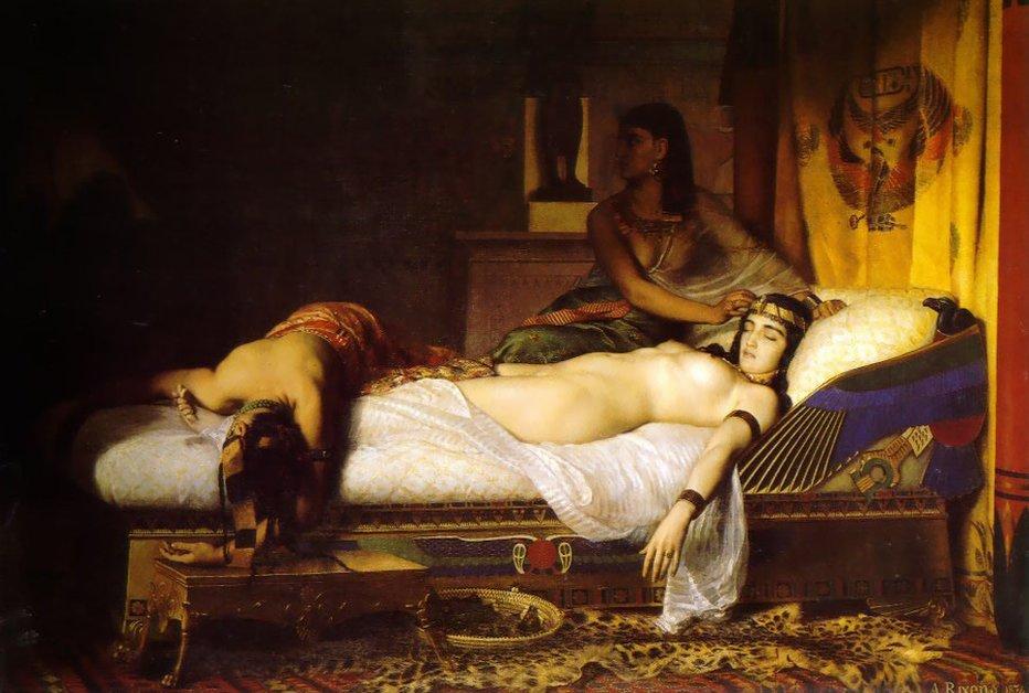 Pintura de Jean-André Rixens sobre Cleopatra