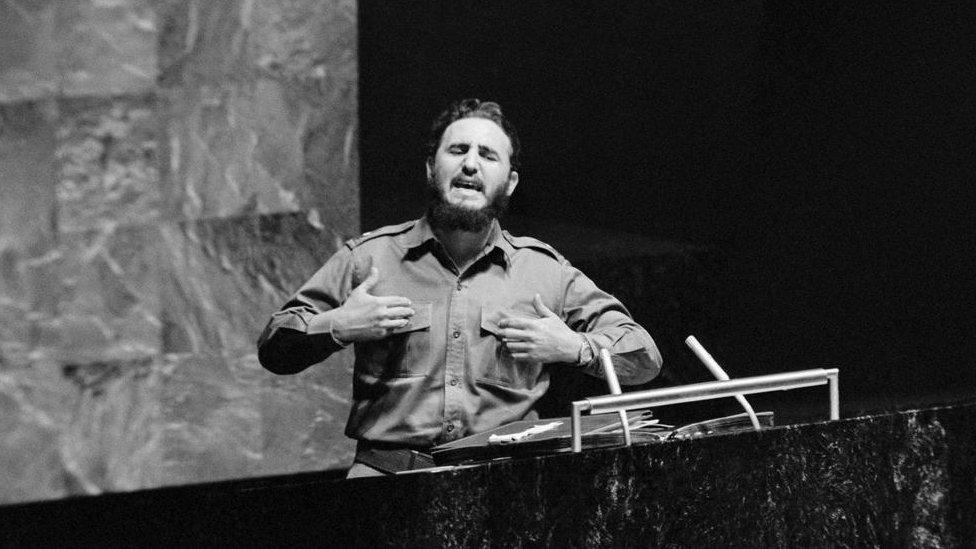 Fidel Castro en Naciones Unidas