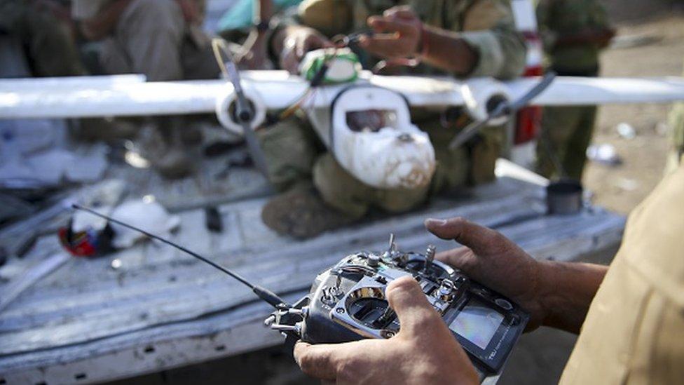 مسلحو التنظيم استخدموا طائرات مسيرة في هجماتهم في سوريا والعراق.
