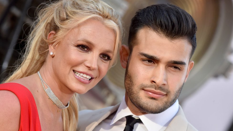 Britney Spears and Sam Asghari in 2019