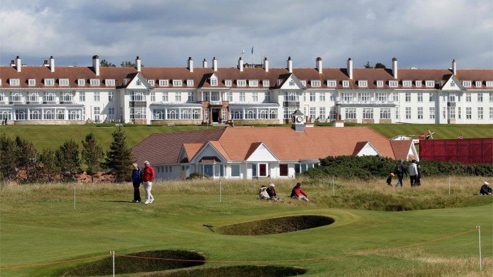 The Turnberry Resort was bought by Mr Trump in 2014