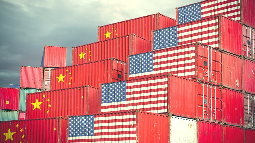 US and China export containers