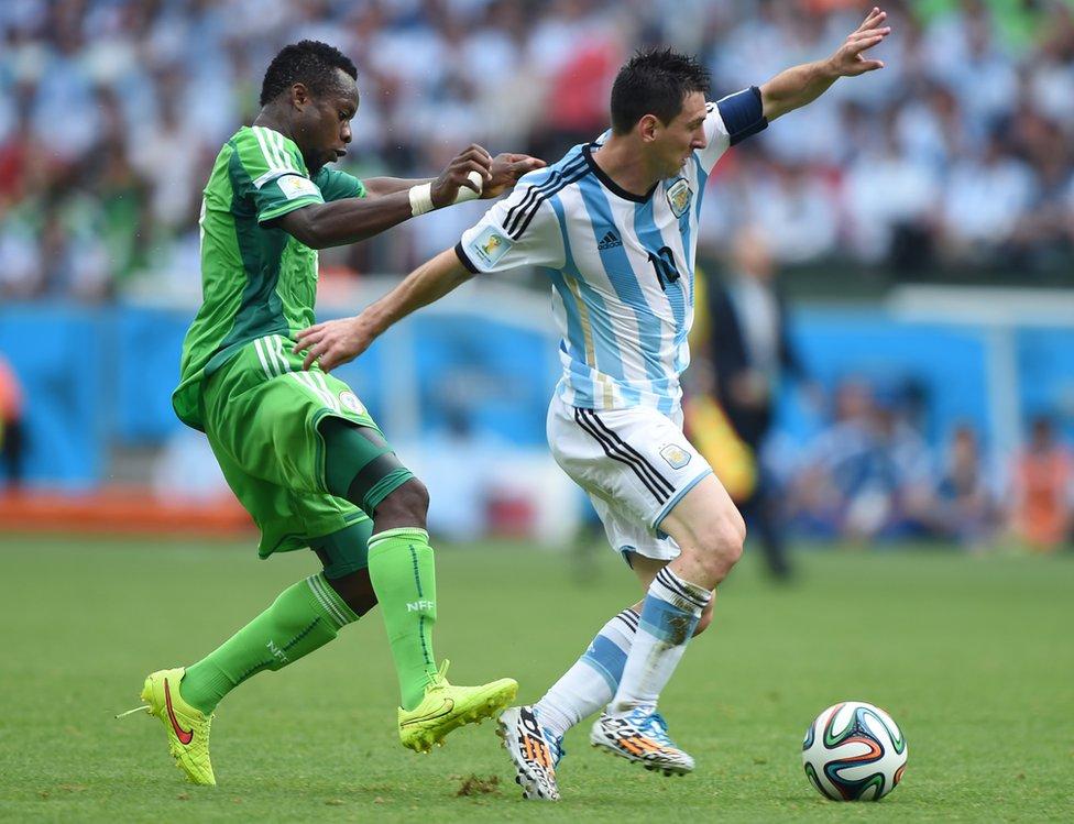 Messi ya enfrentó a selecciones de Nigeria en amistosos, mundiales y juegos olímpicos.