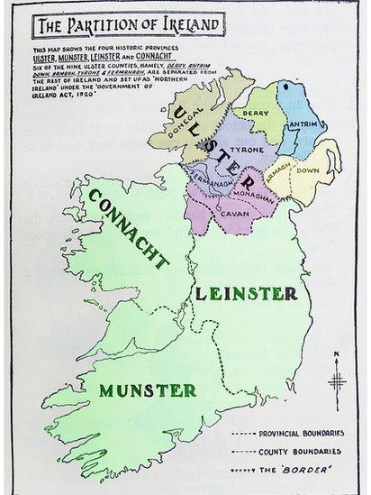 Mapa de Irlanda.