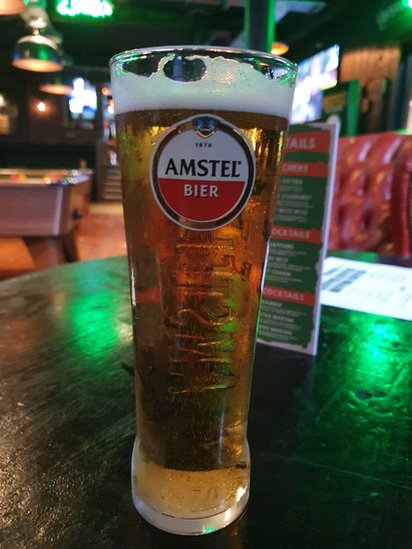 A pint of beer in one of the bars.