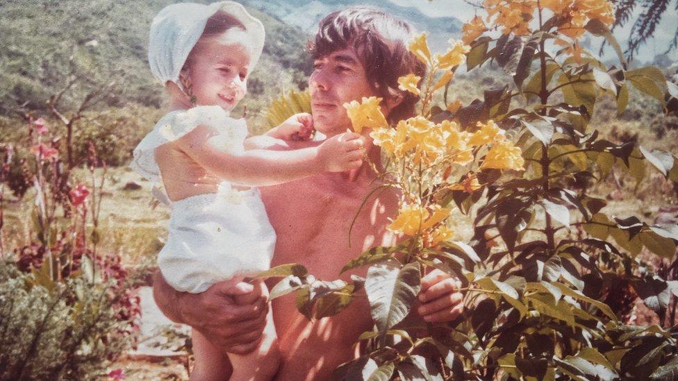 Sara Jaramillo y su padre, Pompilio Jaramillo