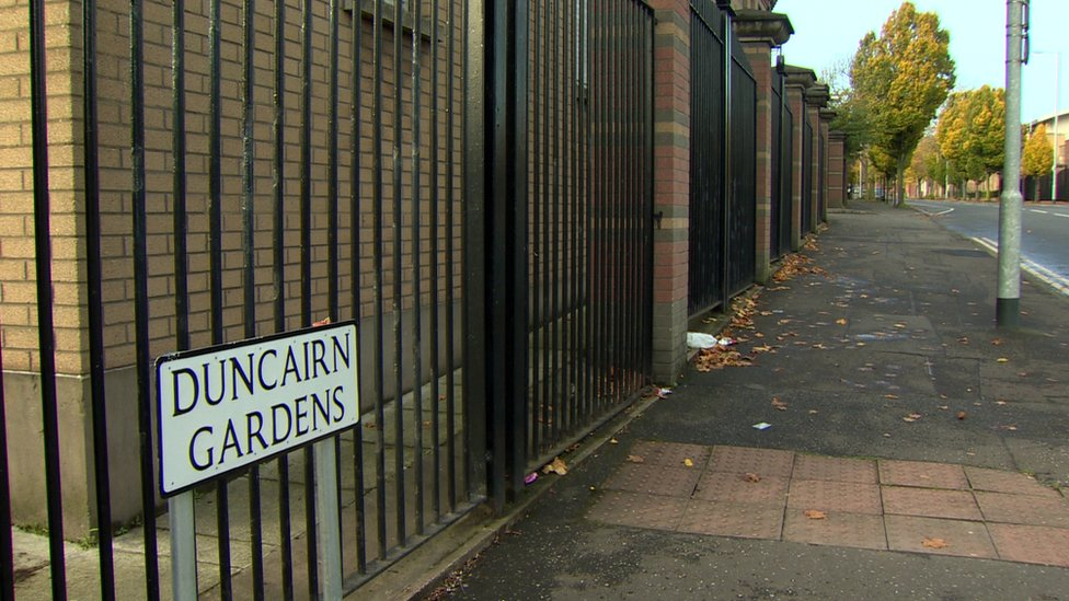 Police said they were called to the junction of North Queen Street and Duncairn Gardens on Friday night