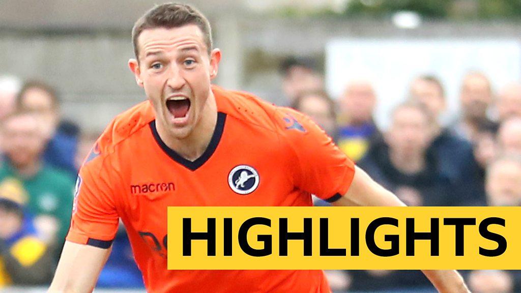 FA Cup: AFC Wimbledon 0-1 Millwall highlights