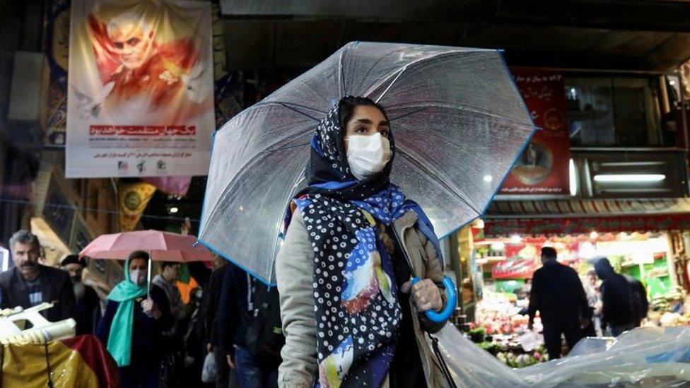 Mujer en Teherán