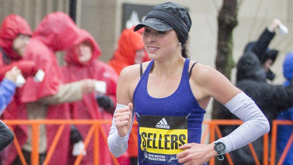 Sarah Sellers: The nurse who was runner-up in Boston marathon