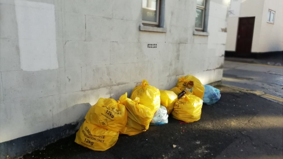 'Disgust' after clinical waste found in Swindon street