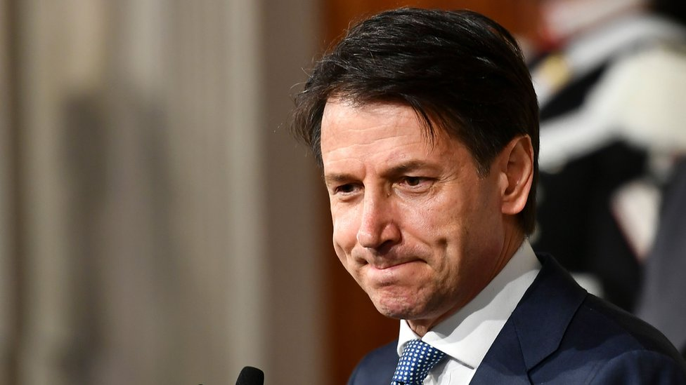 Italy president names novice Giuseppe Conte as populist PM
