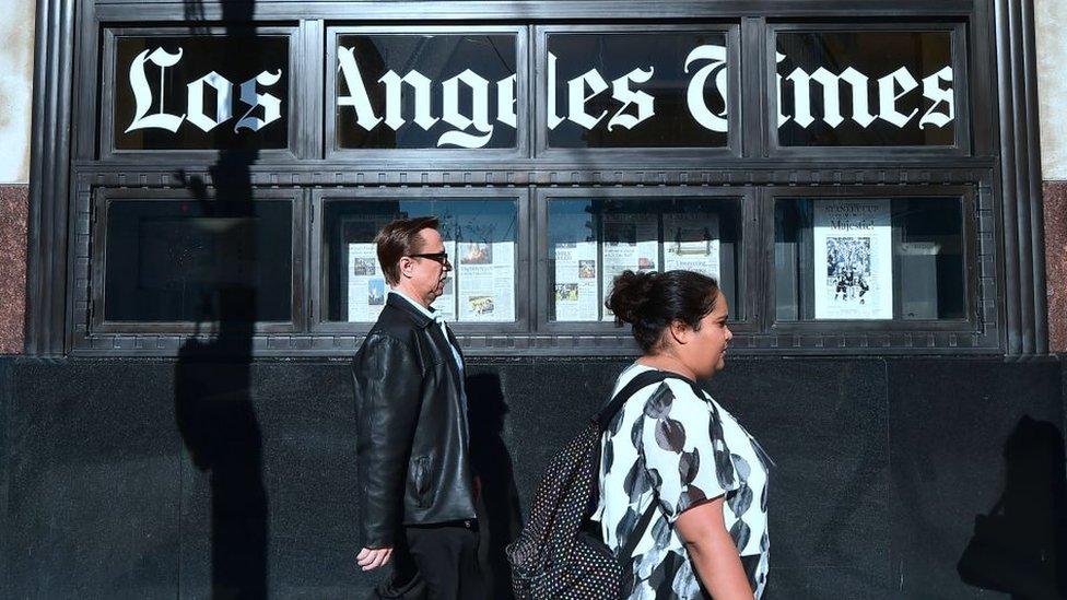 Los Angeles Times gazetesi bu yıl biyoteknoloji milyarderi Patrick Soon-Shiong tarafından satın alınmıştı