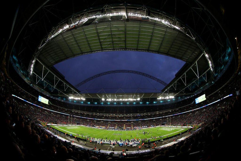 Un partido de la NFL en el estadio de Wembley