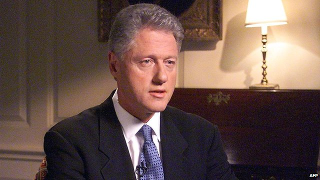 (File photo 17 August 1998) of US President Bill Clinton