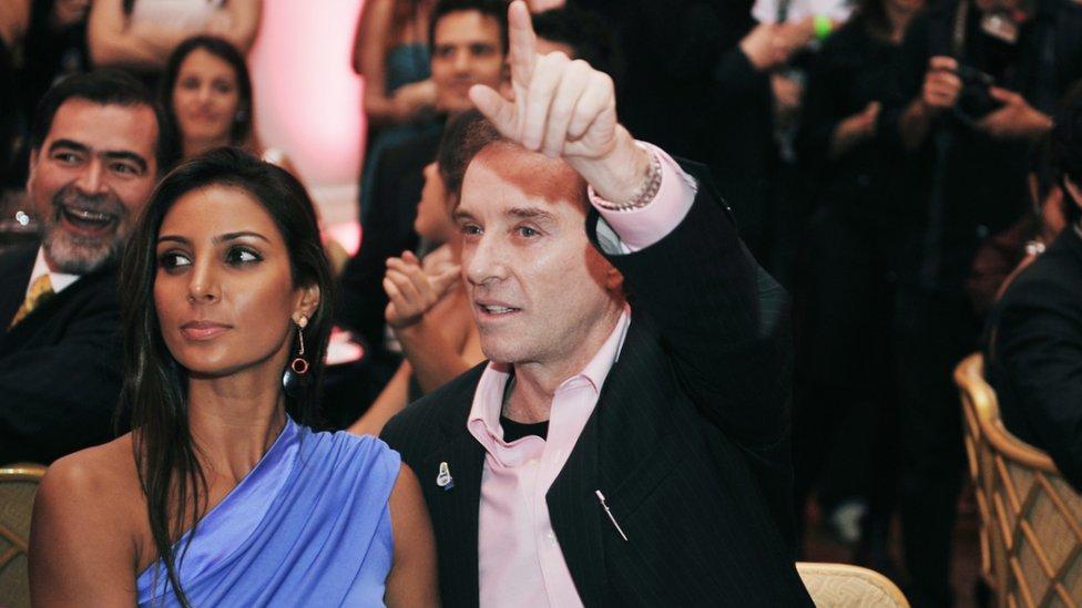 Eike Batista con su novia Flavia Sampaio
