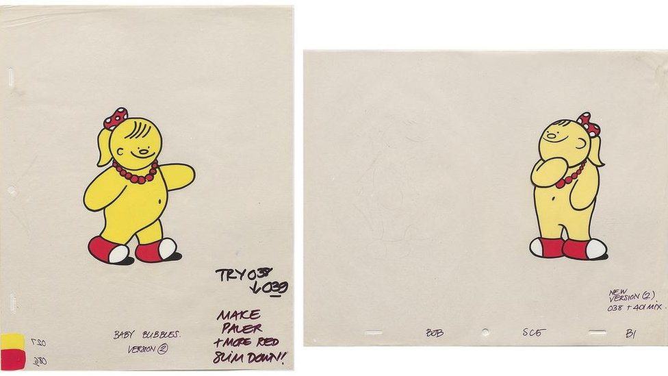 Material from the Bassett's Jelly Babies commercials, a series within the Bob Godfrey Archive
