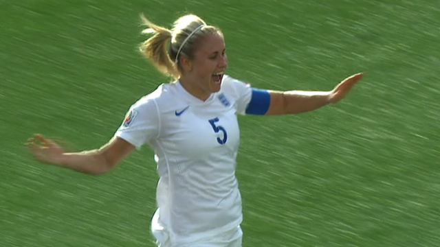 Steph Houghton heads England level against Norway