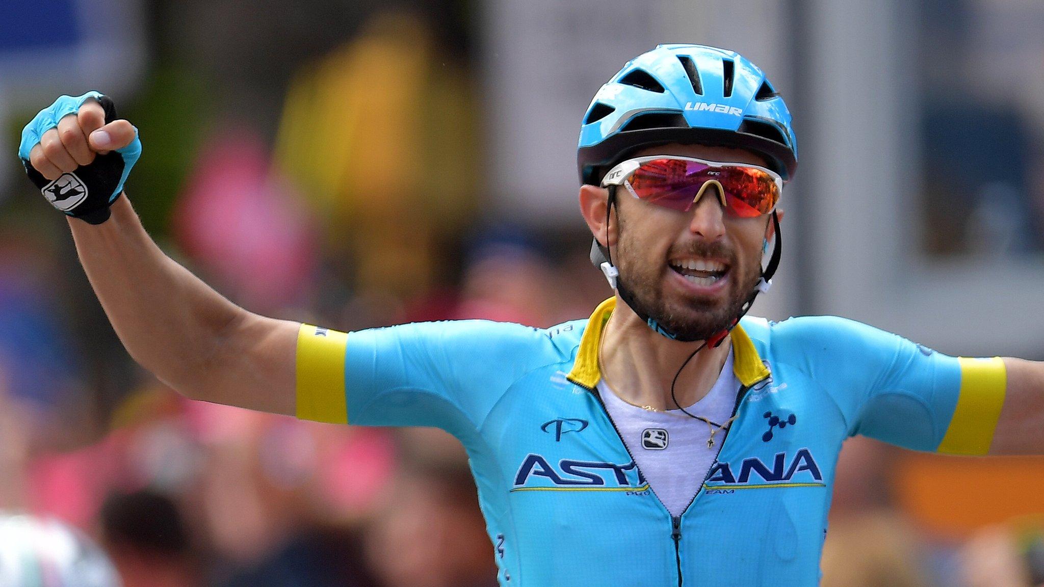 Giro d'Italia: Richard Carapaz stretches lead over Primoz Roglic as Dario Cataldo wins stage 15