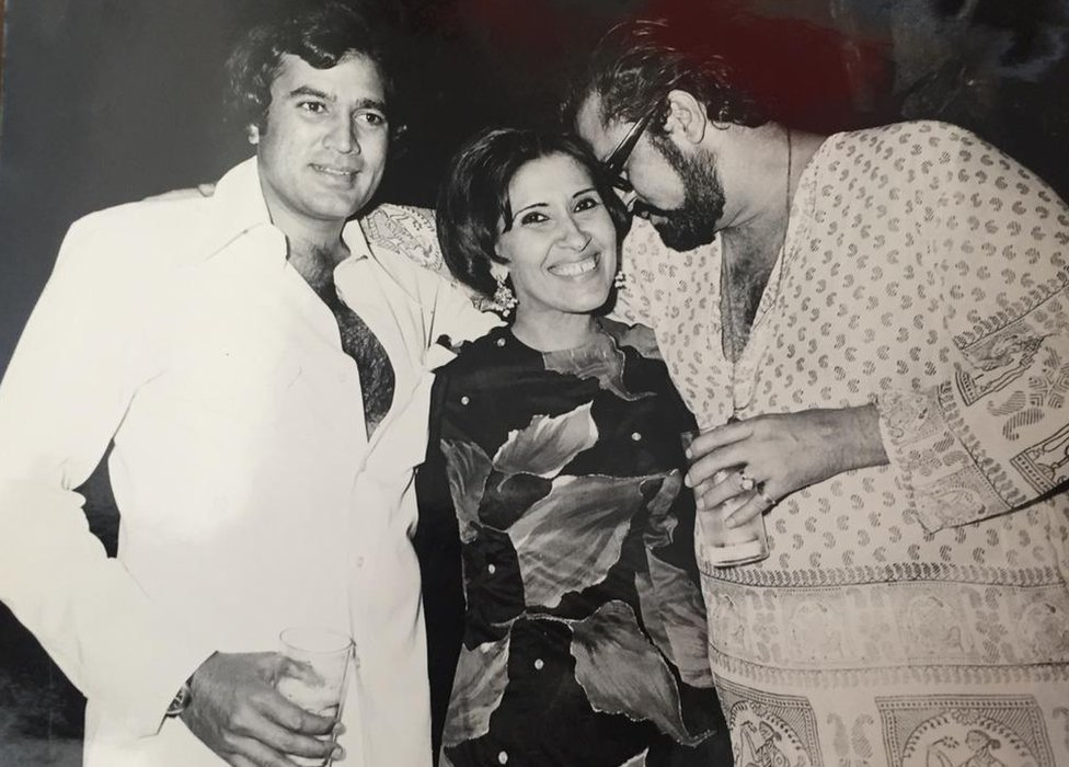 Gulshan Ewing with Rajesh Khanna and Shammi Kapoor