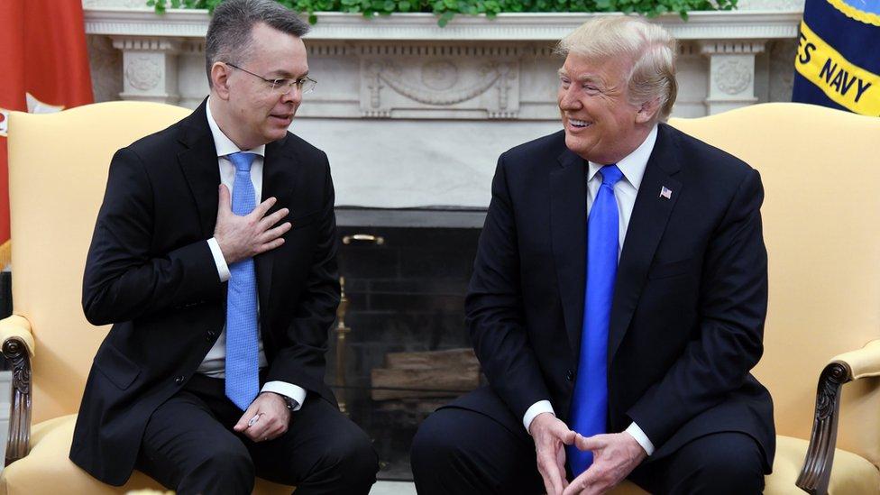 Andrew Brunson ve ABD Başkanı Donald Trump Beyaz Saray'da görüştü