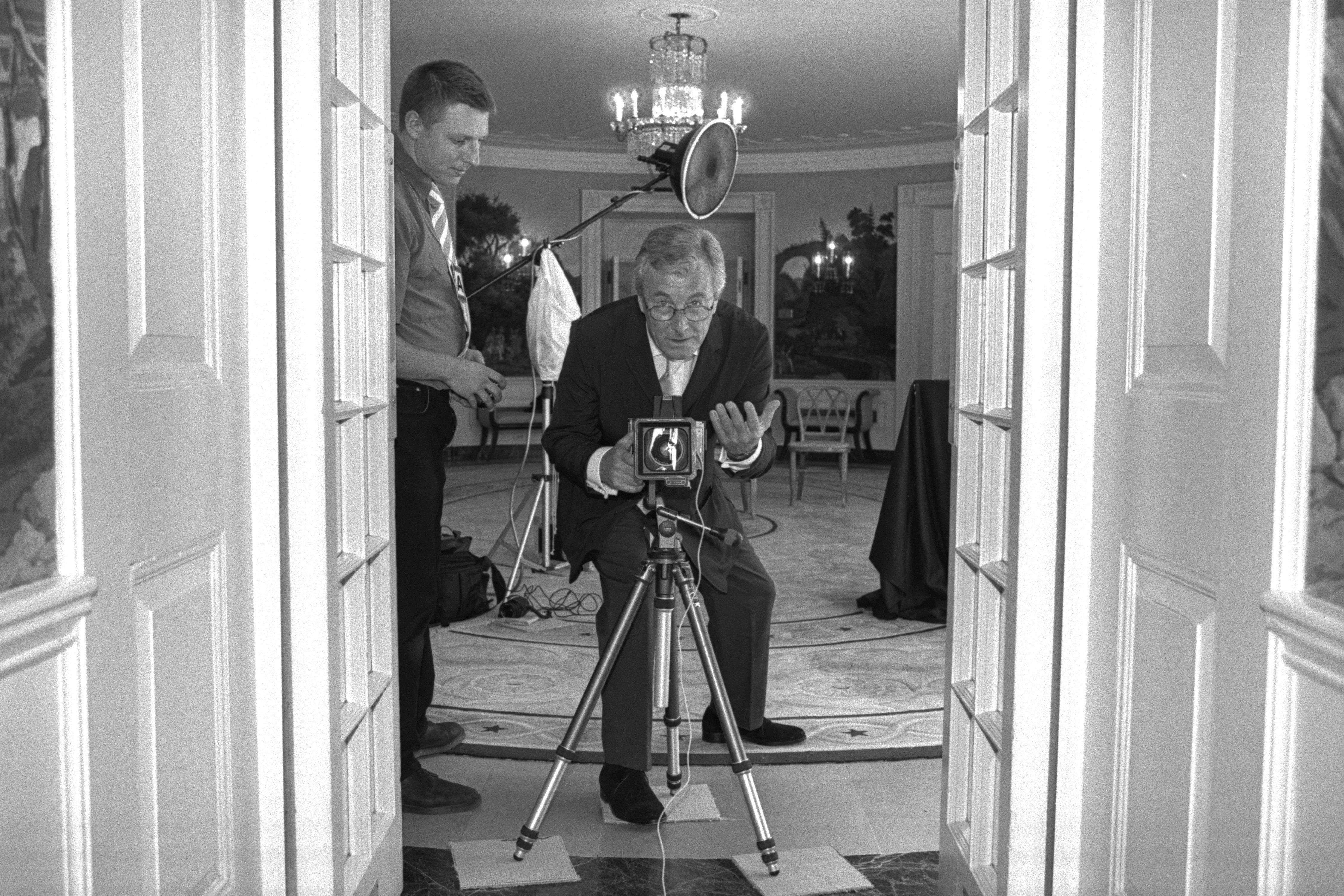 """Terry O""""Neill photographs Laura Bush at the White House in 2001"""