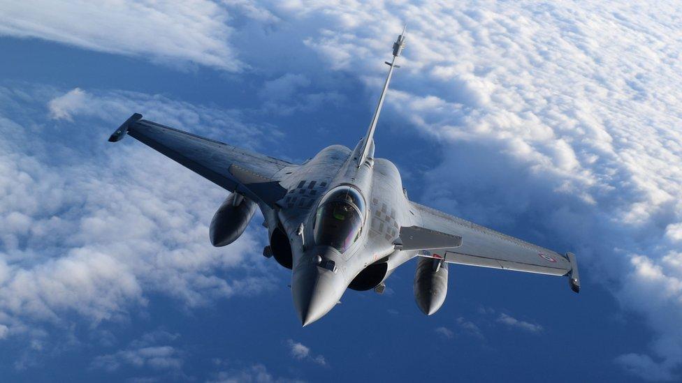 Fransız Hava Kuvvetleri'ne ait bir Rafale uçağı