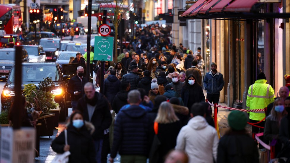 Shoppers in Regent Street