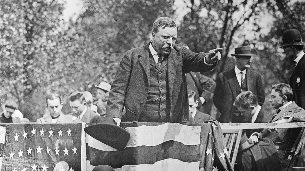 Roosevelt on the campaign trail