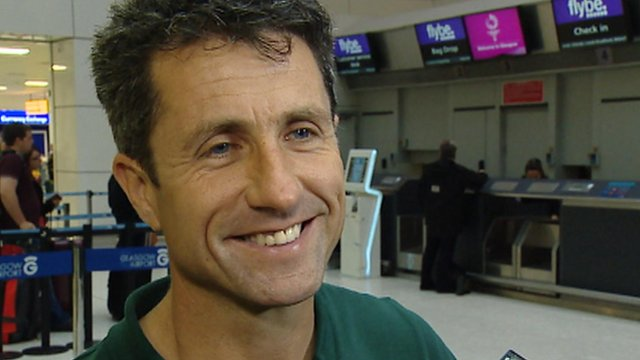John Collins at Glasgow Airport