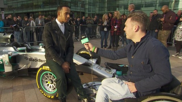 Lewis Hamilton speaks to Newsround after winning his 2014 title