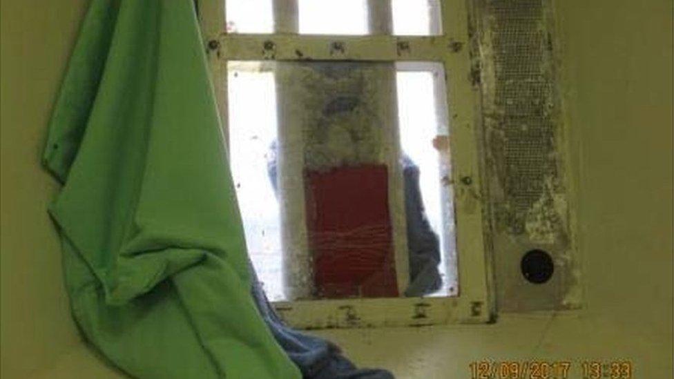 Broken cell window