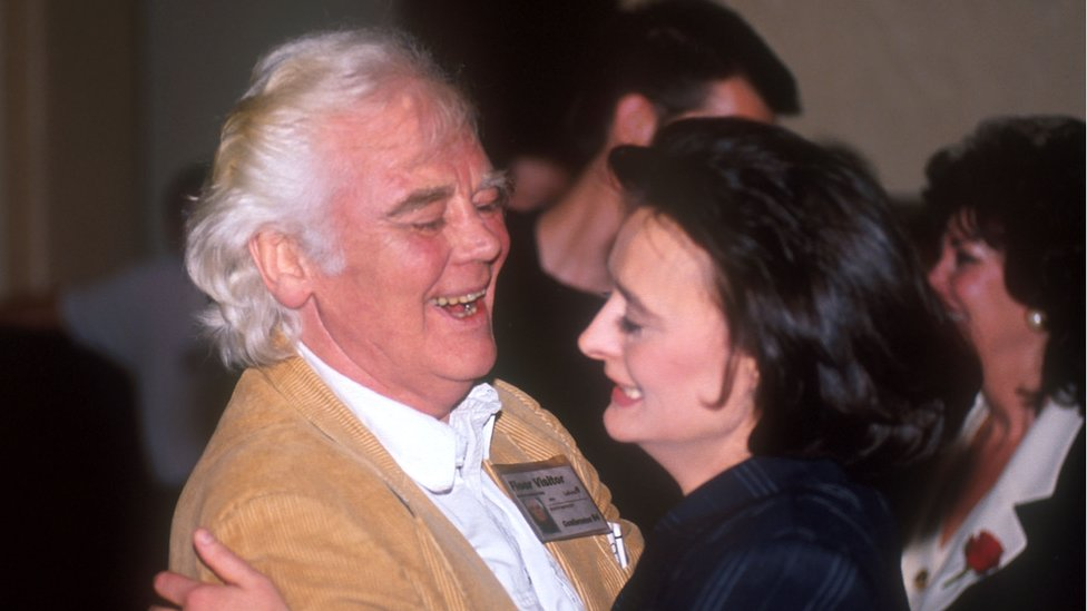Tony Booth and daughter Cherie Blair