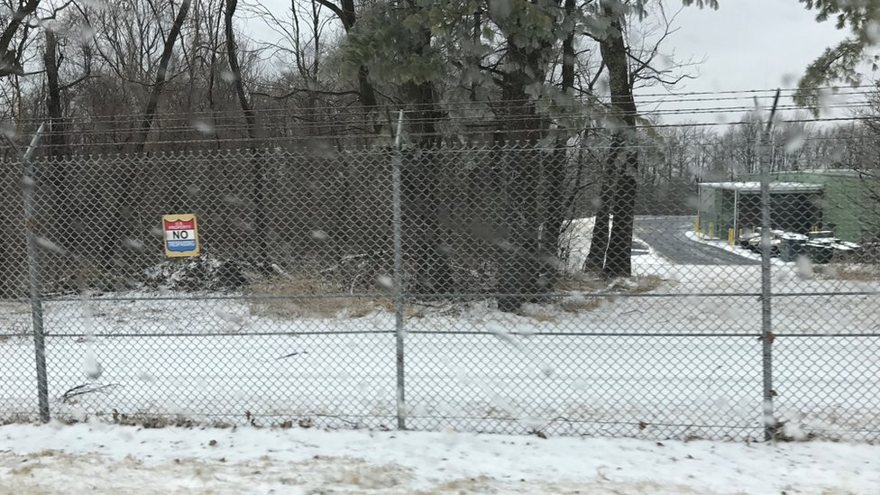 Mount Weather facilities - fence and building