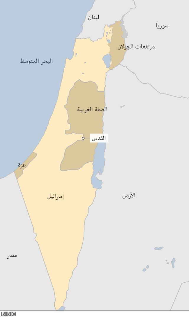 خريطة قطاع غزة