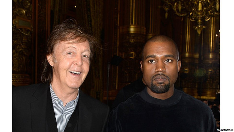 Sir Paul McCartney and Kanye West