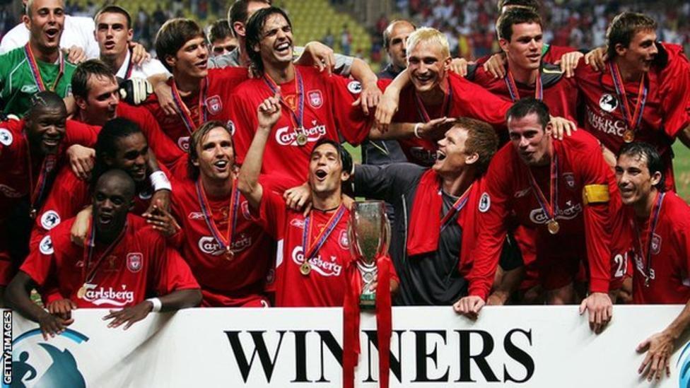 ليفربول هو آخر فريق انجليزي أحرز كأس السوبر عندما فاز على سسكا موسكو عام 2005 بثلاثة أهداف مقابل هدف واحد بعد وقت إضافي