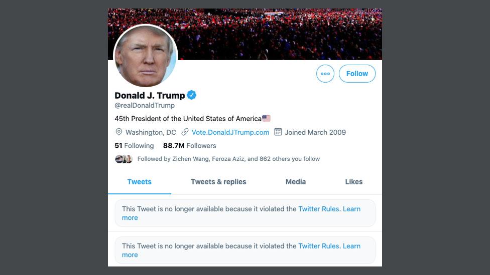 Trump's Twitter downfall - BBC News