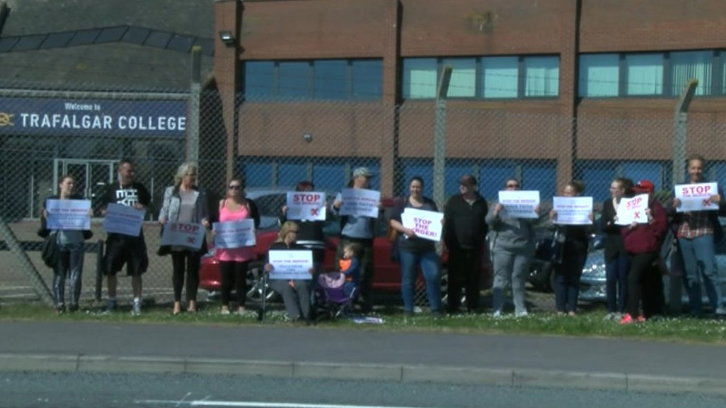 Great Yarmouth parents protest over schools merger