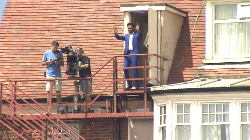 Himesh Patel on the roof of Gorleston's Pier Hotel