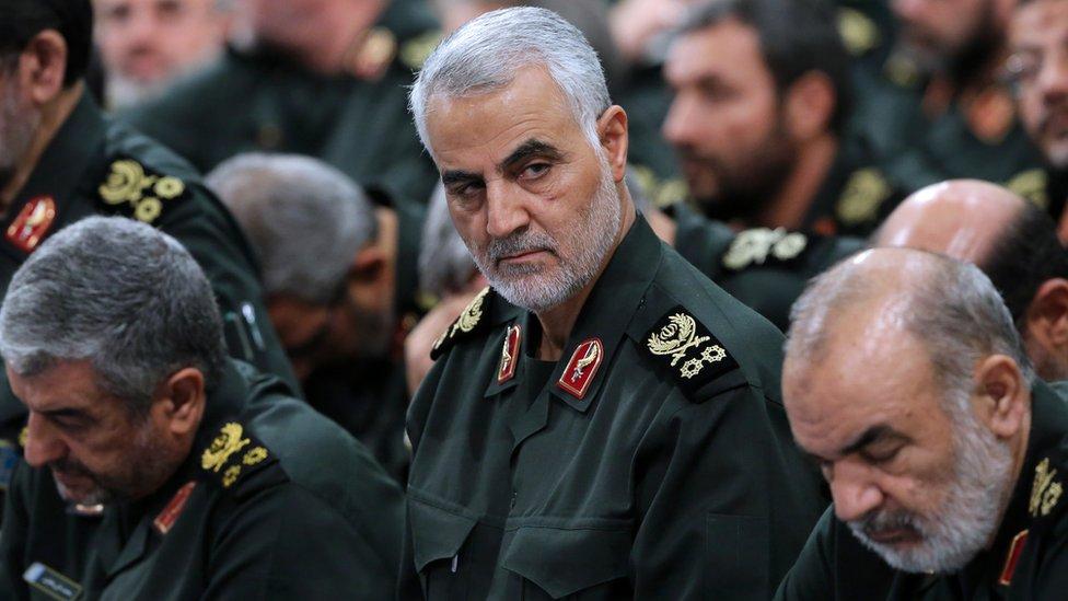 الجنرال الإيراني قاسم سليماني، قائد فيلق القدس