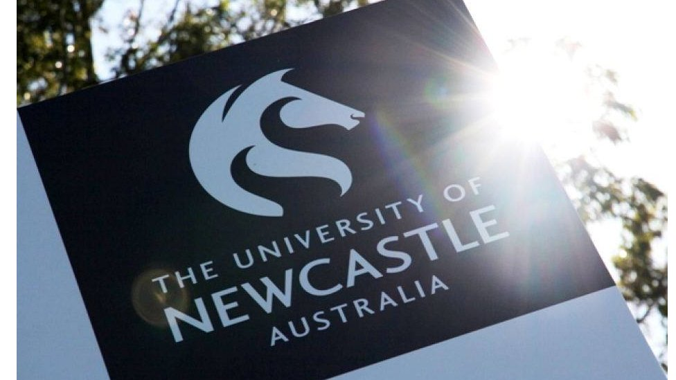 A sign for the University of Newcastle Australia